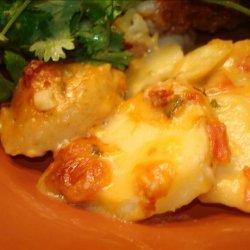 Cheesy Rotel Potatoes recipe