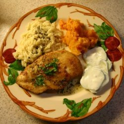 Breaded Chicken Cutlets With Lemon Basil Sauce recipe