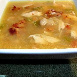 Chicken, Bacon and White Bean Soup Portuguese Style recipe