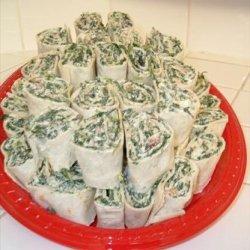 Spinach Roll Ups recipe