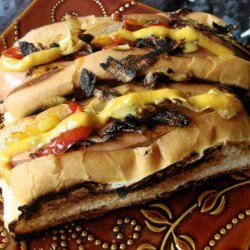 Beer Brats With Onions and Peppers recipe