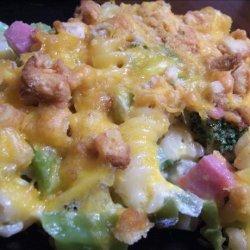 Cheesy Ham & Broccoli Casserole recipe