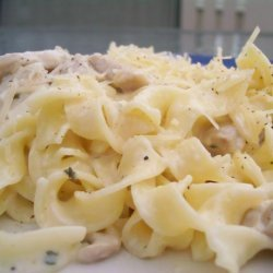Quick and Easy Chicken in a Parmesan White Sauce recipe