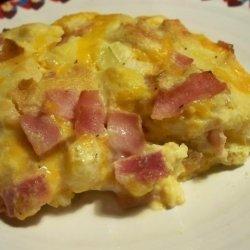 Easy Baked Ham N' Egg Casserole recipe