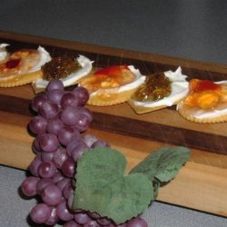 Crackers, Cream Cheese, and Pepper Jelly recipe