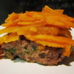Scalloped Sweet Potatoes With Ground Beef recipe