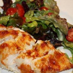Parmesan-Crusted Chicken With Arugula Salad recipe
