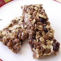 Cocoa Granola Bars recipe