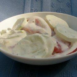 German Cucumber Salad with Sour Cream recipe