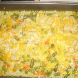 Campbells Cheesy Chicken & Rice Casserole recipe
