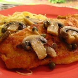 Chicken Piccata With Mushrooms recipe