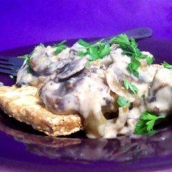 Baked Tofu With Mushroom Gravy recipe