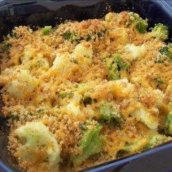 Zesty Broccoli and Cauliflower Au Gratin recipe