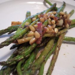 Asparagus with Toasted Pine Nuts & Lemon Vinaigrette recipe