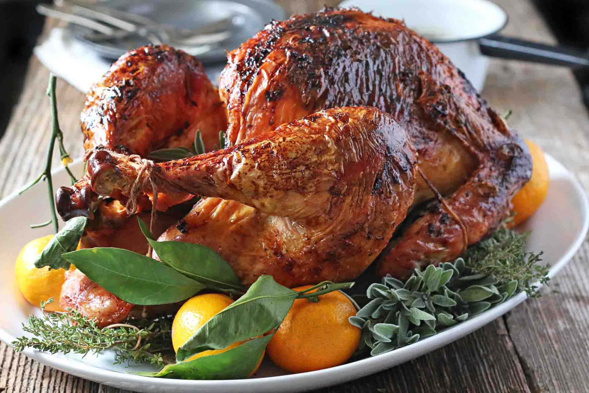 Roast Turkey with Sage and Lemon