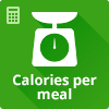 Calories per meal calculator