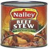 Nalley beef stew, in a hearty gravy beef stew, chunks of tender stew meat in a hearty gravy Calories