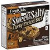 Food Club chewy pretzel bars sweet & salty, peanut chocolate chunk Calories
