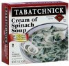 Tabatchnick cream of spinach soup Calories