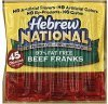 Hebrew National franks beef, 97% fat free Calories