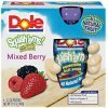Dole squish'ems squeezable fruit snacks mixed berry Calories
