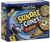 Food Club sundae cones fudge Calories