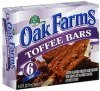 Oak Farms toffee bars with chocolate flavored coating Calories