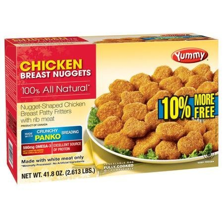 100 all natural chicken breast nuggets Yummy Nutrition info