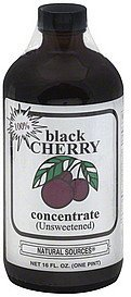 100% concentrate black cherry, unsweetened Natural Sources Nutrition info