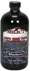 100% fruit juice concentrate blueberry Seelect Nutrition info