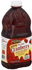 100% juice blend cranberry flavored Southern Home Nutrition info