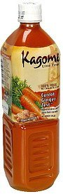 100% juice carrot ginger zest Kagome Nutrition info