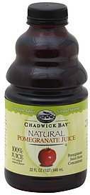100% juice natural pomegranate Chadwick Bay Nutrition info