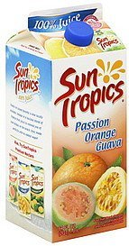100% juice passion orange guava Sun Tropics Nutrition info