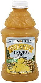 100% juice pineapple Golden Crown Nutrition info