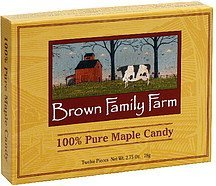 100% pure maple candy Brown Family Farm Nutrition info