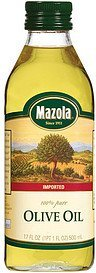 100% pure olive oil Mazola Nutrition info