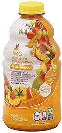 100% vegetable and fruit juice blend peach mango Ahold Nutrition info