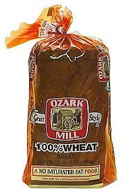 100% wheat bread grist style Ozark Mill Nutrition info