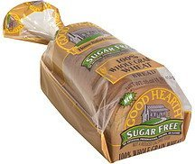 100% whole grain wheat bread sugar free Good Hearth Nutrition info
