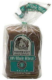 100% whole wheat bread sliced Northwest Grain Country Nutrition info