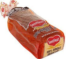 100% whole wheat bread Sweetheart Nutrition info