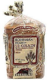 12 grain bread with sunflower seeds Bohemian Hearth Nutrition info