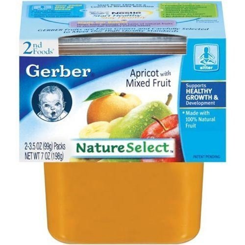 2nd foods apricot with mixed fruit Gerber Nutrition info