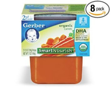 2nd foods carrots Gerber Nutrition info