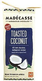 63% dark chocolate toasted coconut Madecasse Nutrition info