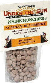 acadian blueberry blueberry yogurt covered raisins Maine Munchies Nutrition info