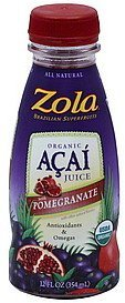 acai juice organic, with pomegranate Zola Nutrition info