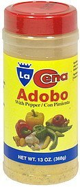 adobo with pepper La Cena Nutrition info