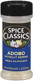 adobo without pepper Spice Classics Nutrition info